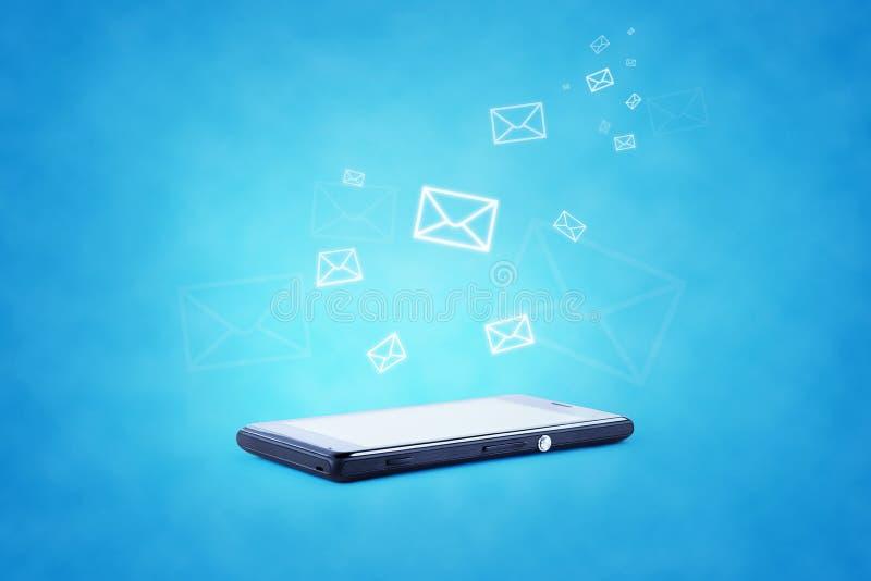 Illustration moderne de technologie des communications avec photo stock