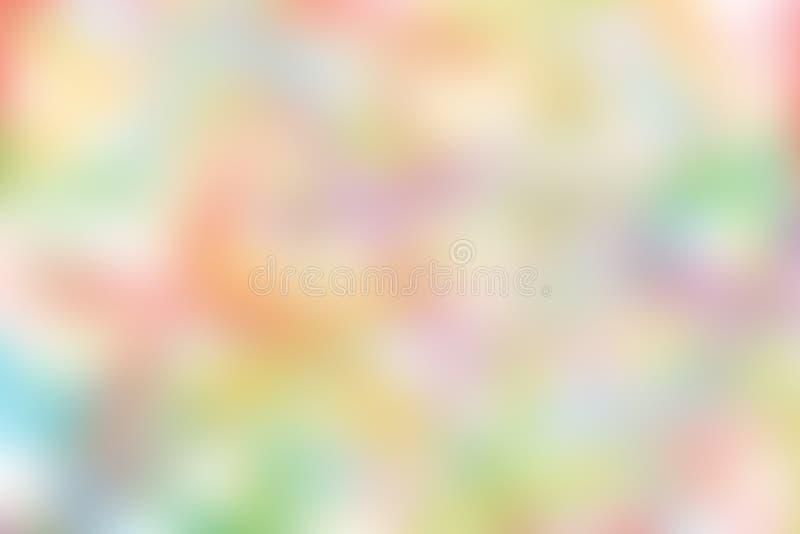 Illustration molle en pastel colorée brouillée de fond de tonalité de gradient pour le fond de la publicité de bannière de cosmét illustration stock