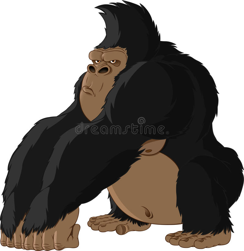 Illustration of a monkey stock illustration