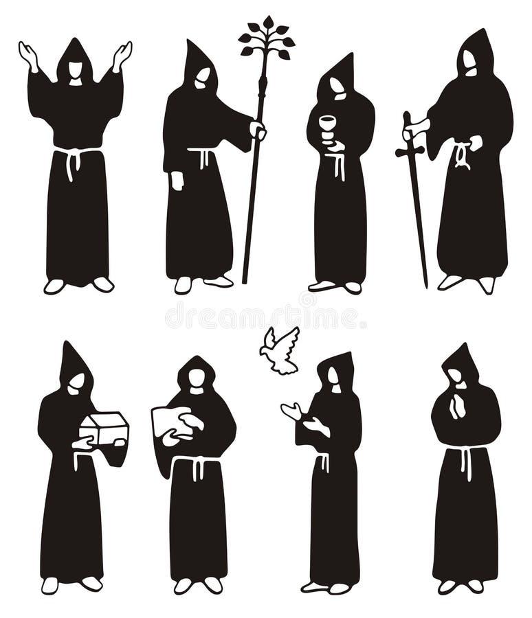Download Illustration of monks stock illustration. Image of bird - 24085653