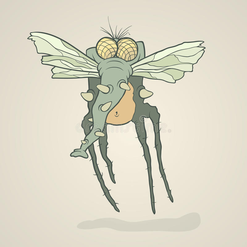 Free Illustration Monster Fly With Long Legs, Wings And Stock Photo - 52987360