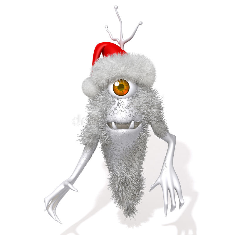 Illustration Monster-Santa Clauss 3d stock abbildung