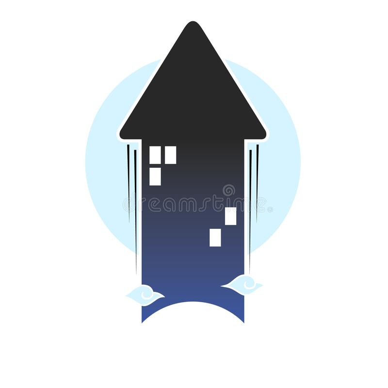 Illustration of residential logos and apartments. Editable real estate logos in the form of Eps and Jpg. JPG images are 4000x4000 pixels so they won`t break if vector illustration