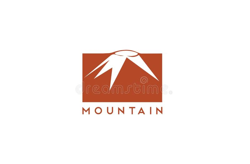 Mountain logo template. Illustration of a mountain. It use retro color. It will suit for logo template of mountain related business stock illustration