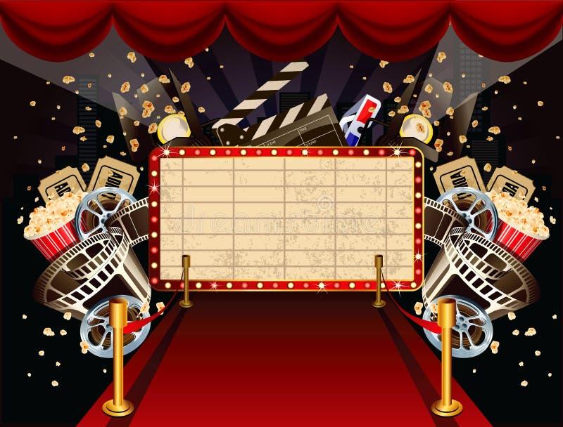 Illustration On Movie Theme Stock Vector Illustration Of