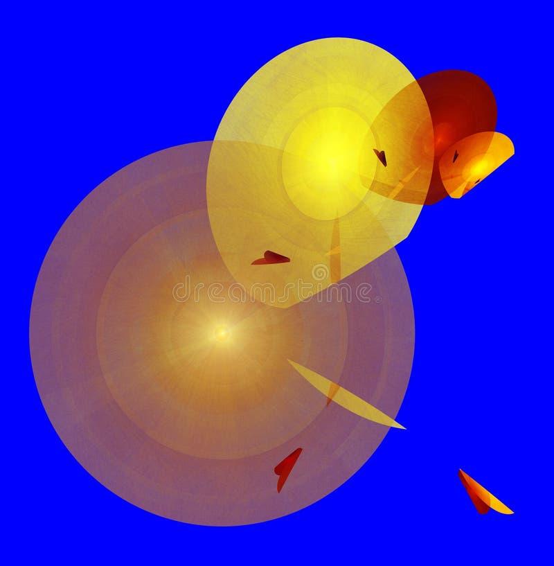Illustration multicolore de milieux abstraits illustration de vecteur