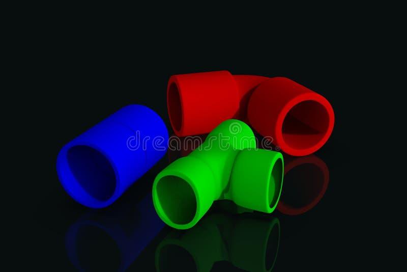 Illustration multicolore des garnitures 3D illustration de vecteur