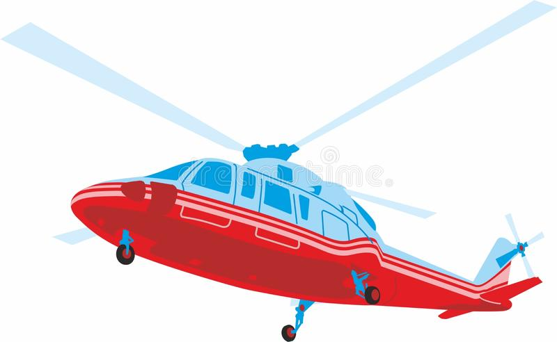 Helicopter in flight. stock photos