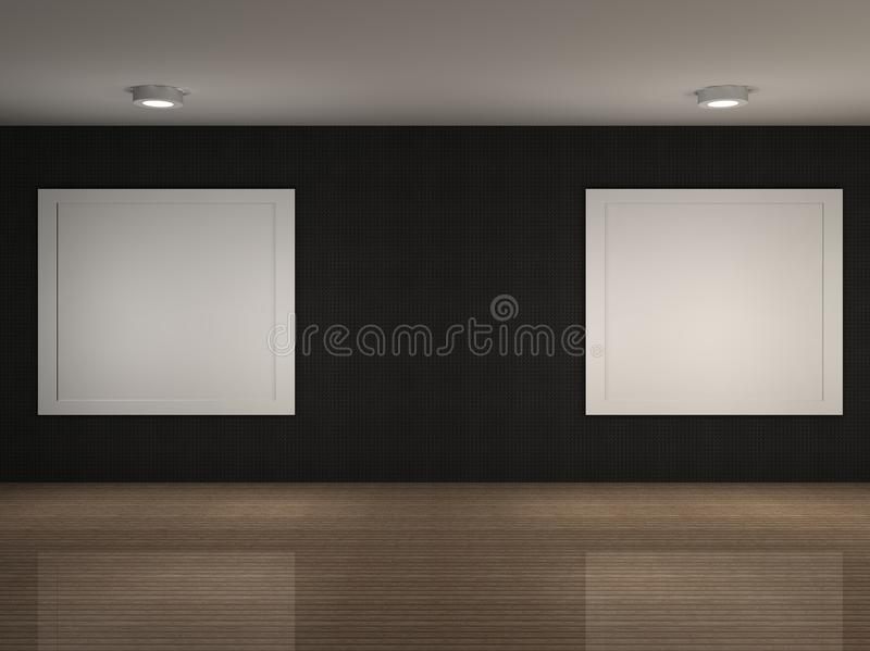 Download A Illustration Of A Museum With Frames Stock Photo - Image: 24140590