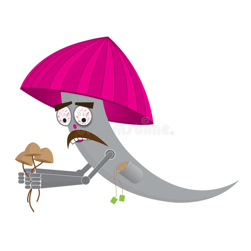 Download Illustration Of A Mushroom Cartoon Stock Vector - Illustration of magical, face: 29261657