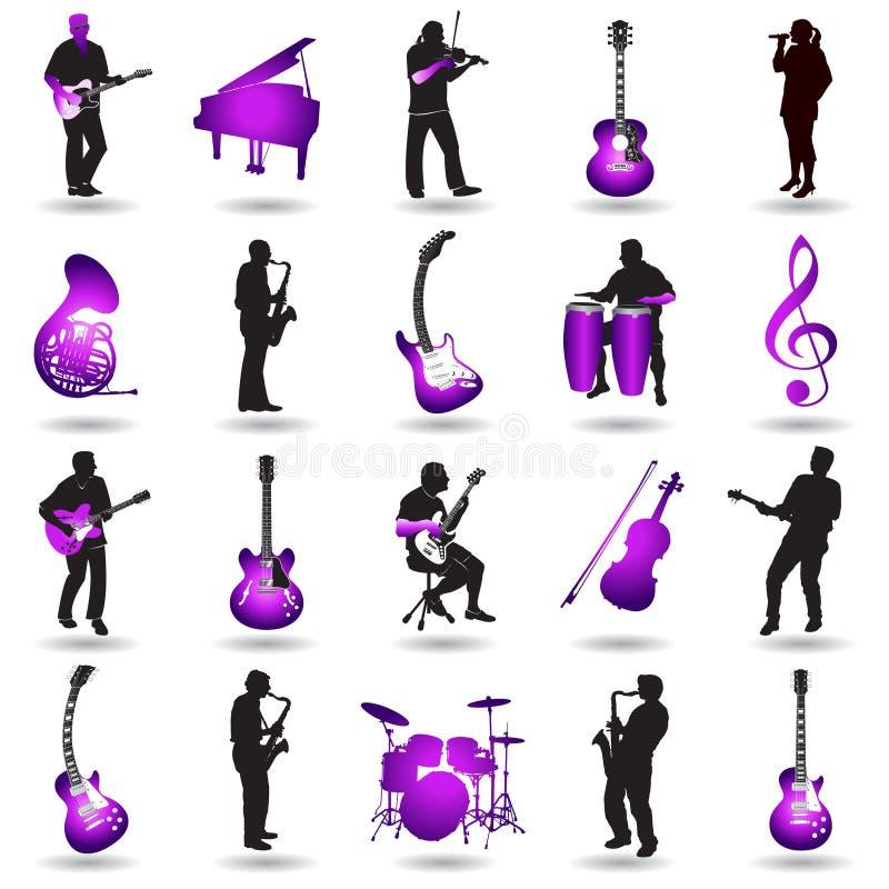 Illustration musicale d'éléments illustration stock