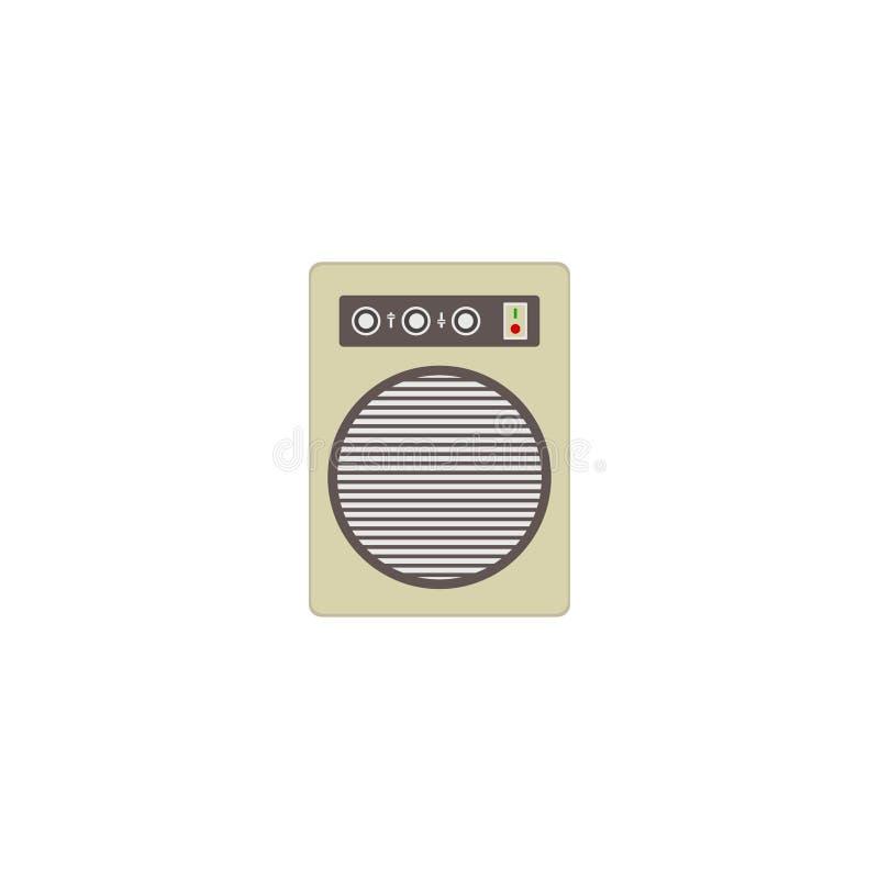 Illustration musicale de vecteur de haut-parleur d'isolement sur le fond blanc Illustration de vecteur ENV 10 illustration de vecteur