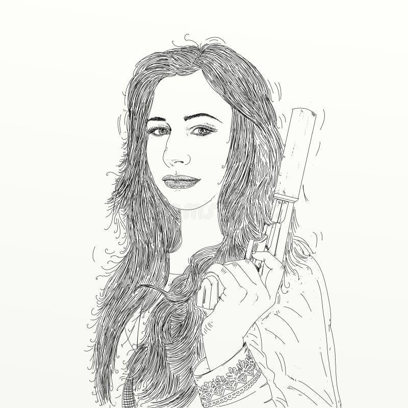 woman illustration stock illustration