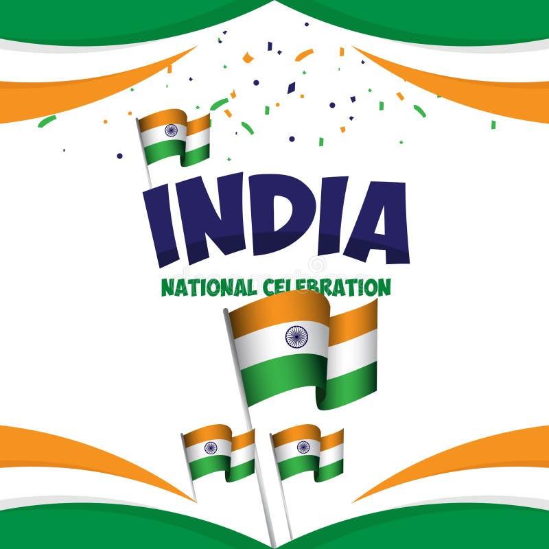 Illustration nationale de conception de calibre de vecteur d'affiche de c?l?bration de l'Inde illustration libre de droits