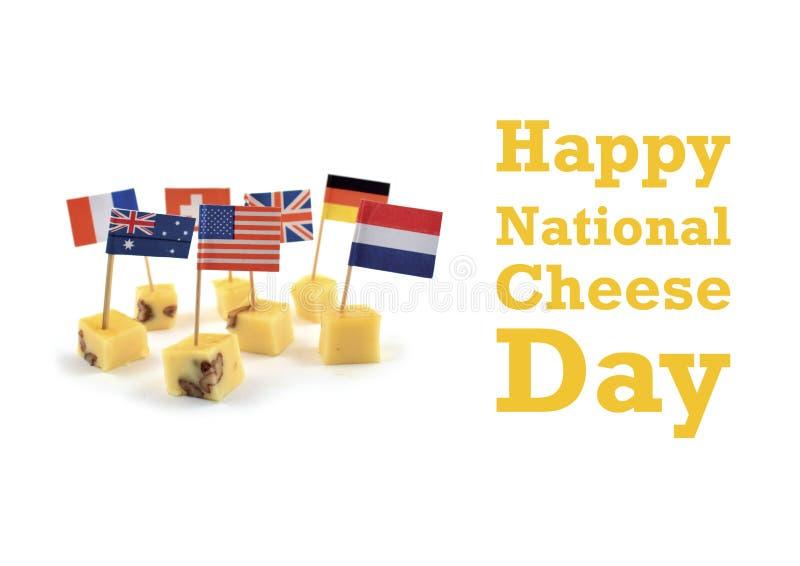 Illustration nationale de jour de fromage illustration de vecteur