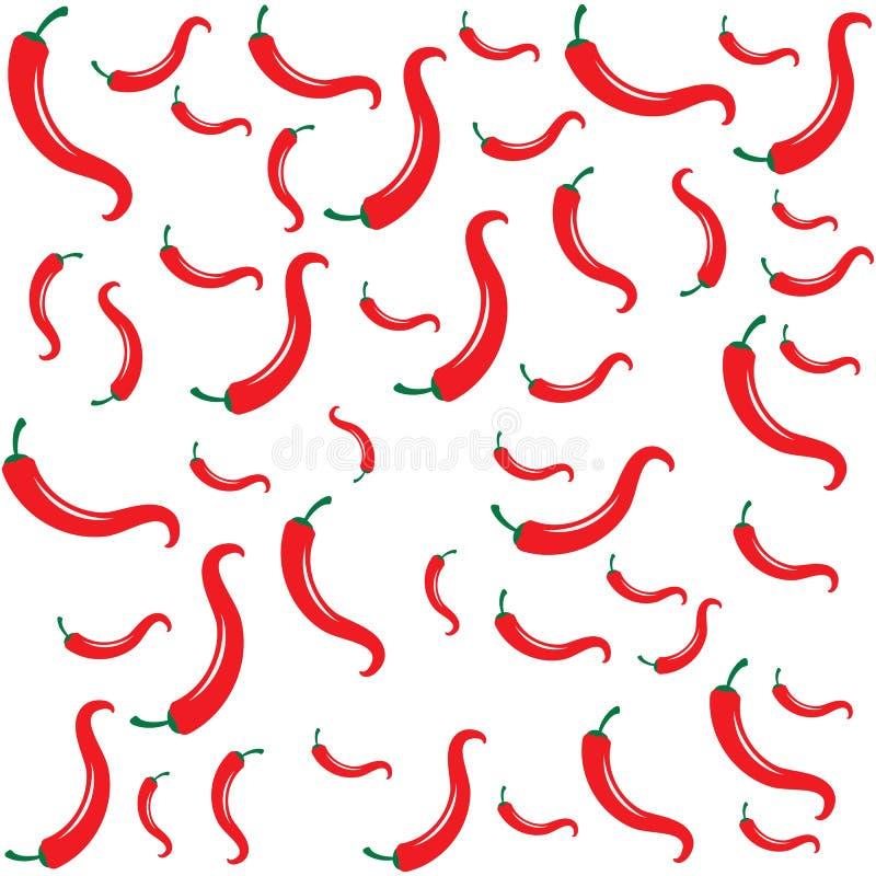 Illustration naturelle d'un rouge ardent de vecteur d'ic?ne de piment illustration libre de droits
