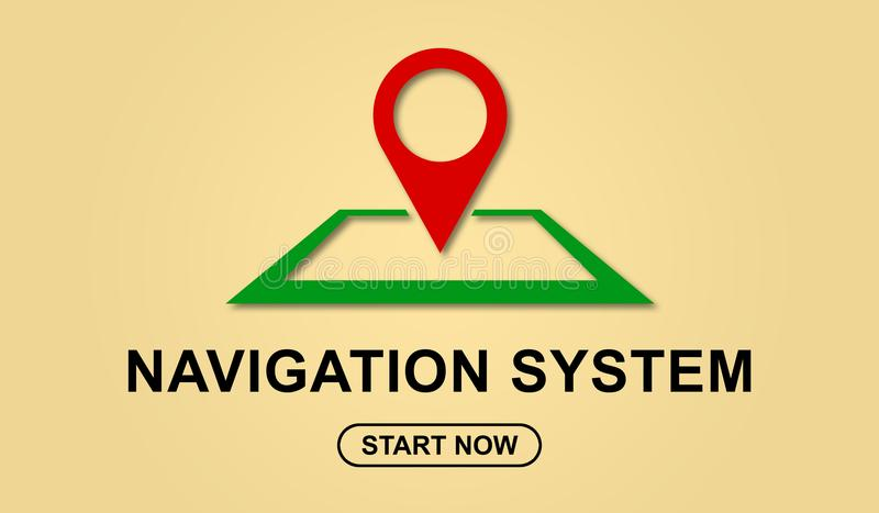 Concept of navigation system. Illustration of a navigation system concept stock illustration