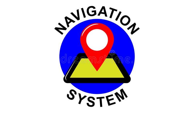 Concept of navigation system. Illustration of a navigation system concept royalty free illustration