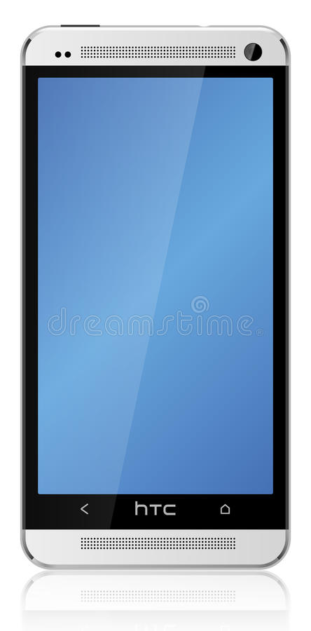 HTC One Silver stock photography