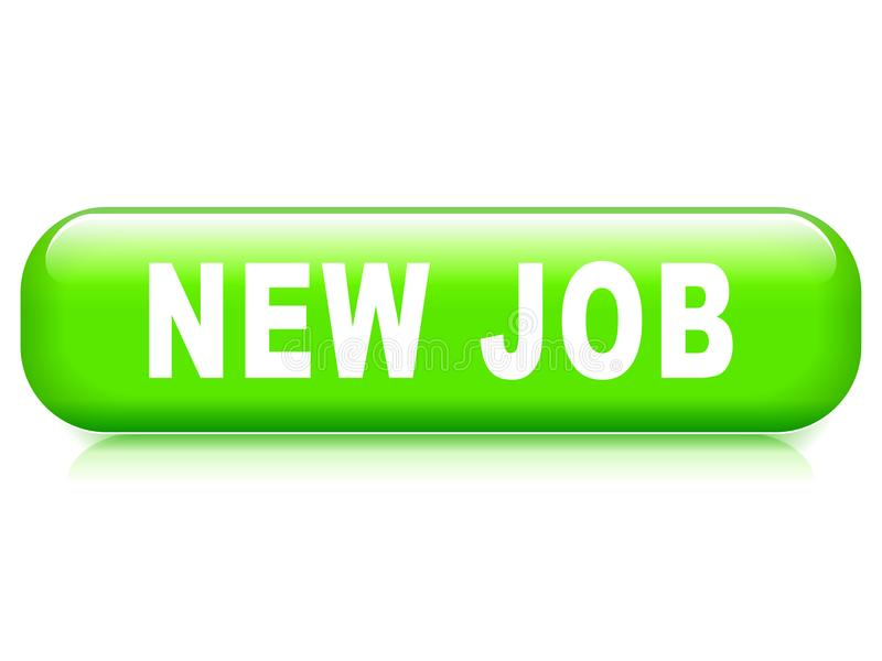 New job button. Illustration of new job button on white background royalty free illustration