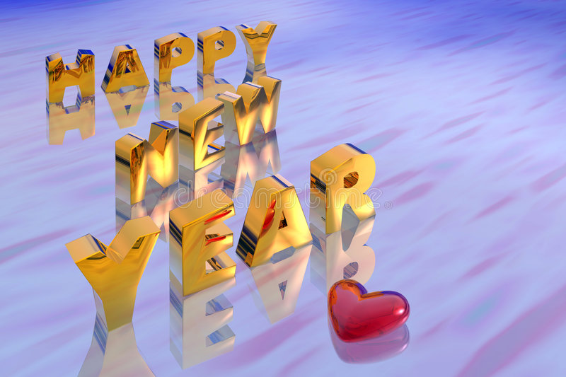 Illustration of new year stock illustration