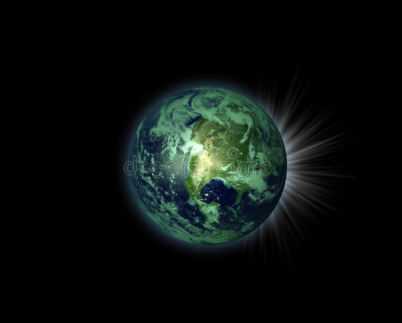 Illustration of a nice green planet