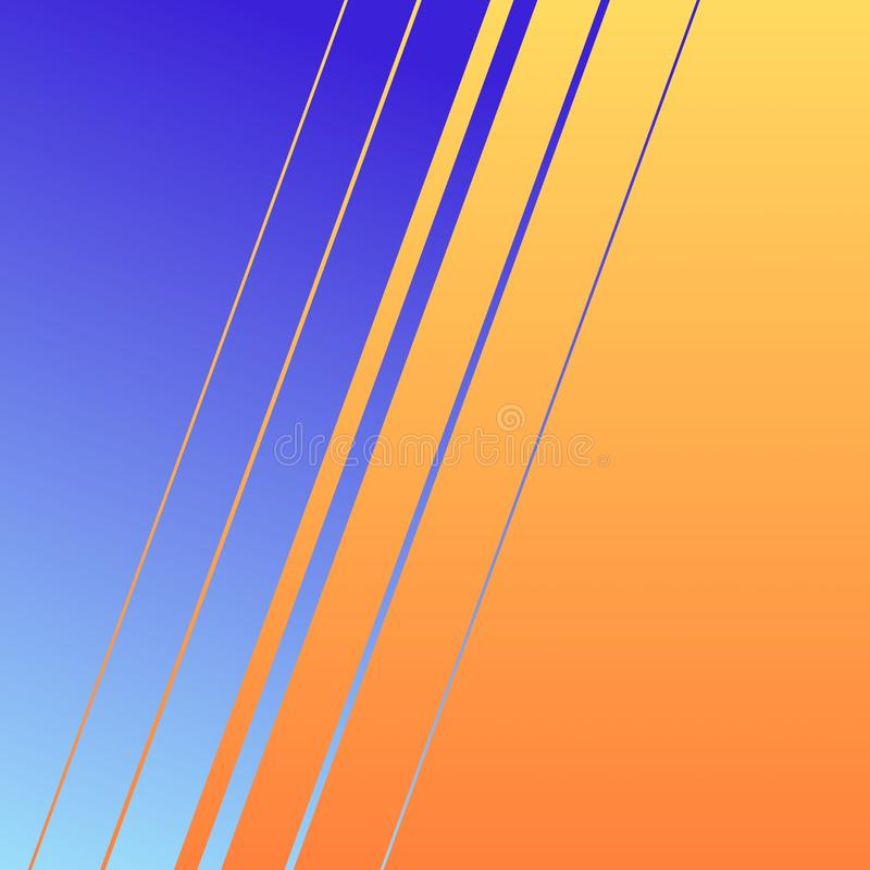 An illustration of a nice looking wallpaper in lines style with blue and orange gradient colours vector illustration