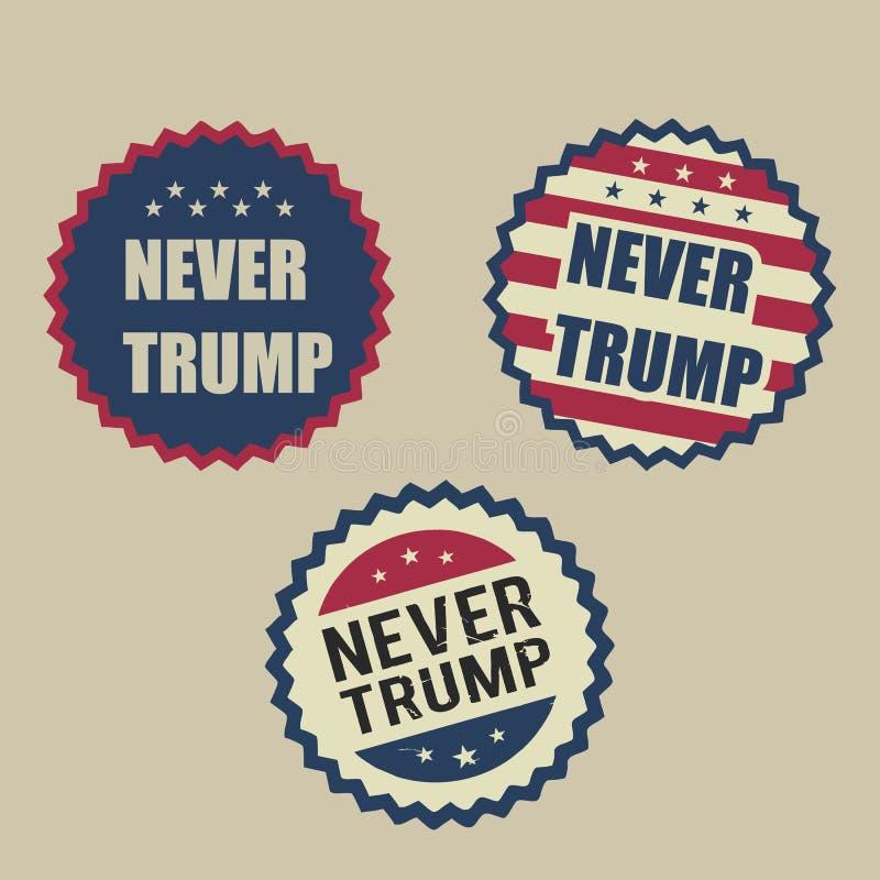 Illustration nie Donald Trump, flaches Design vektor abbildung