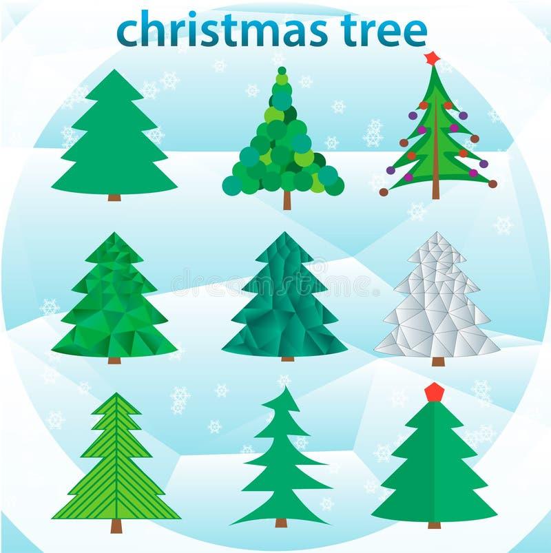Illustration Noël ma version de vecteur d'arbre de portefeuille photo libre de droits