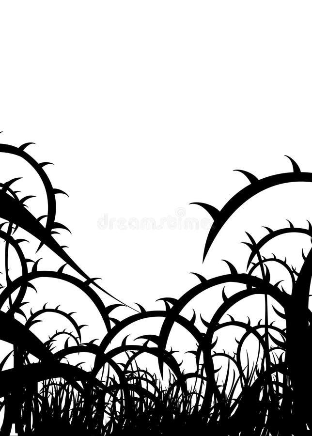 Illustration noire d'épines illustration libre de droits