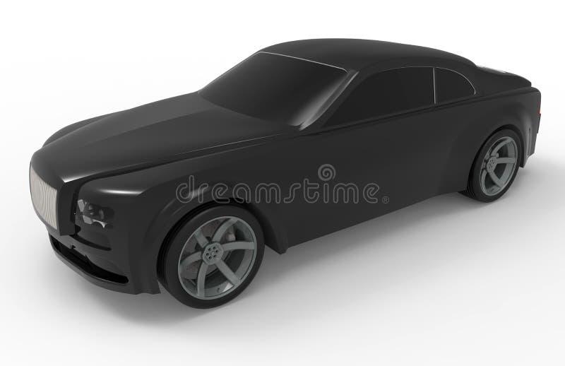 Illustration noire de limousine illustration libre de droits