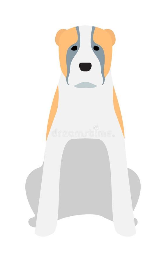 Illustration noire de vecteur d'animal domestique de chien de labrador retriever illustration libre de droits