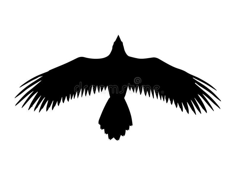 Illustration noire de vecteur de vol d'oiseau illustration de vecteur