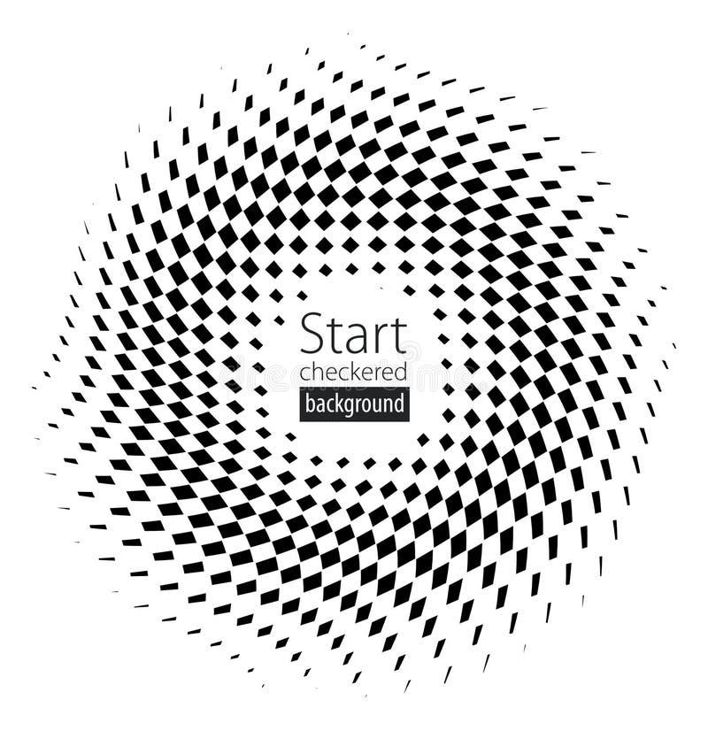 Drapeau Checkered illustration libre de droits