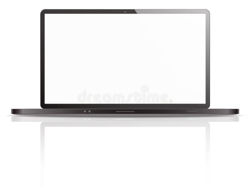 Illustration noire et blanche d'ordinateur portable illustration stock