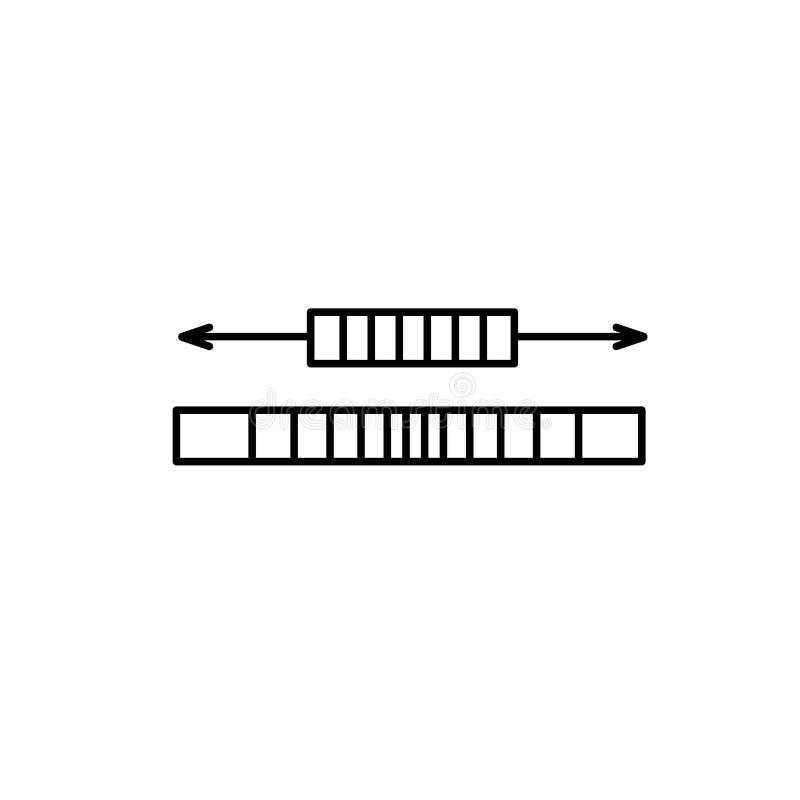 Illustration noire et blanche de corde de couture de bande élastique Vecteur l illustration stock