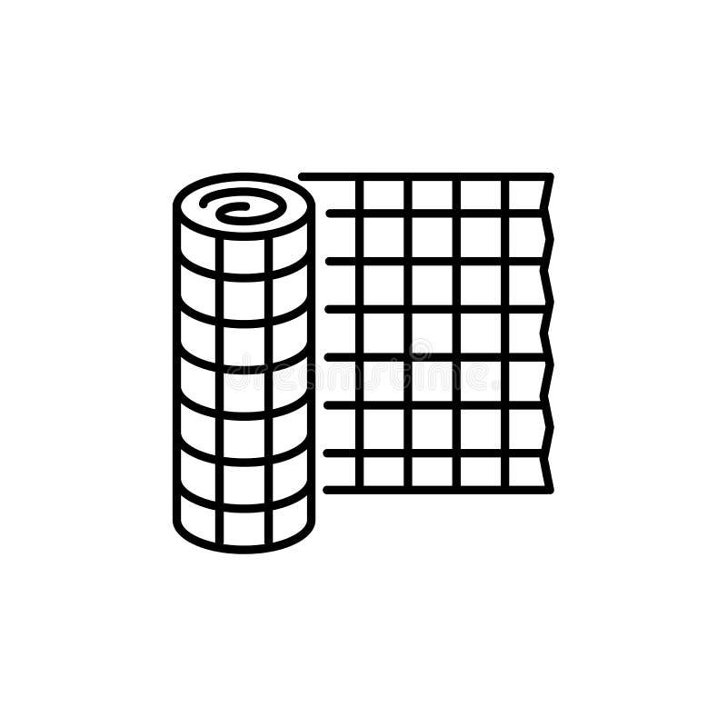 Illustration noire et blanche de vecteur d'usine clôturant le TR protecteur illustration stock