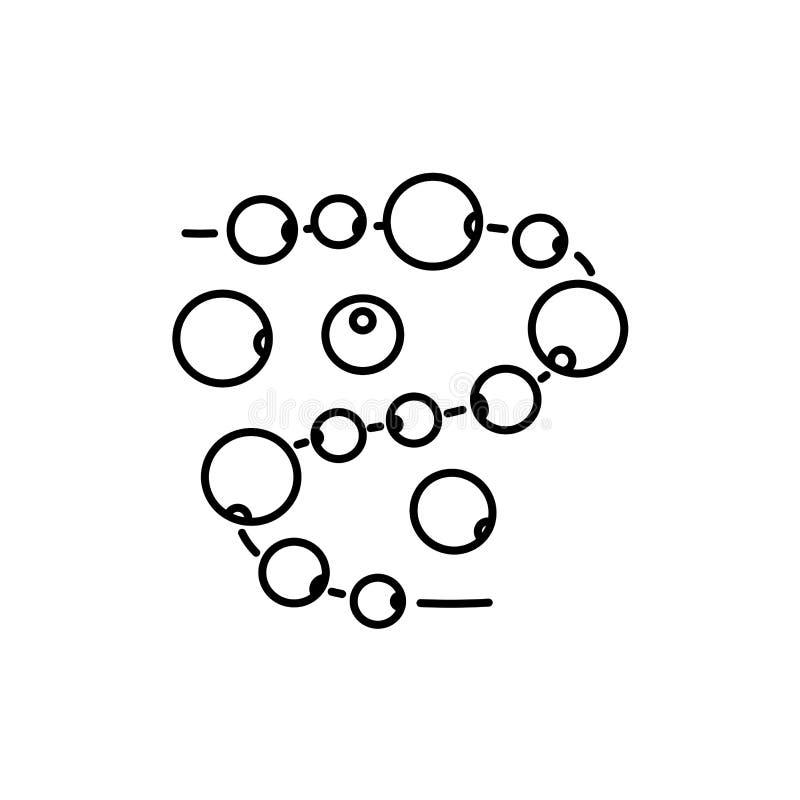 Illustration noire et blanche des perles pour la fabrication diy de bijoux de métier illustration libre de droits