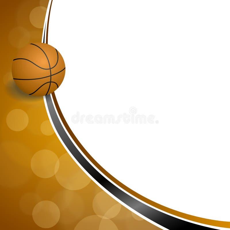 Illustration noire orange abstraite de boule de basket-ball de sport de fond illustration libre de droits