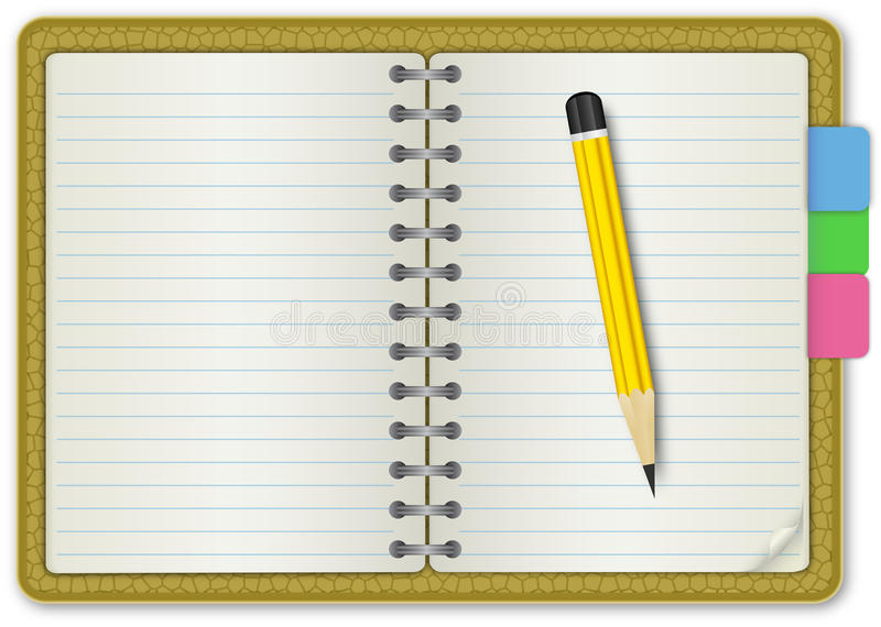 Note Book Skin Textured Stock Images
