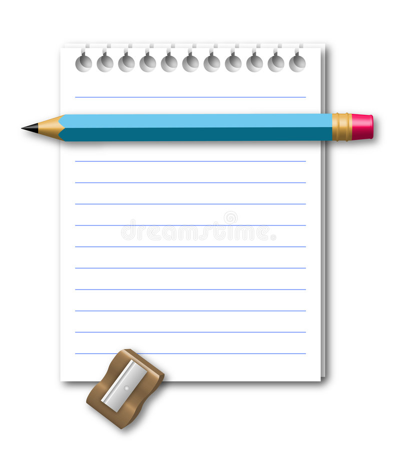 Download Illustration of notebook stock vector. Image of hole, education - 8442018