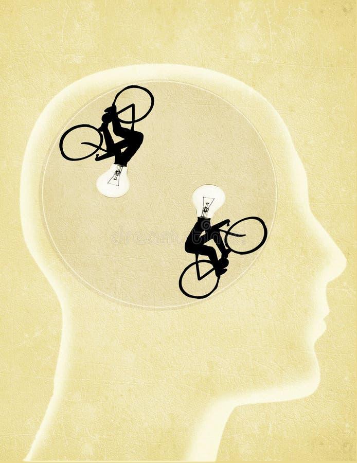 illustration numérique avec la tête humaine photos libres de droits