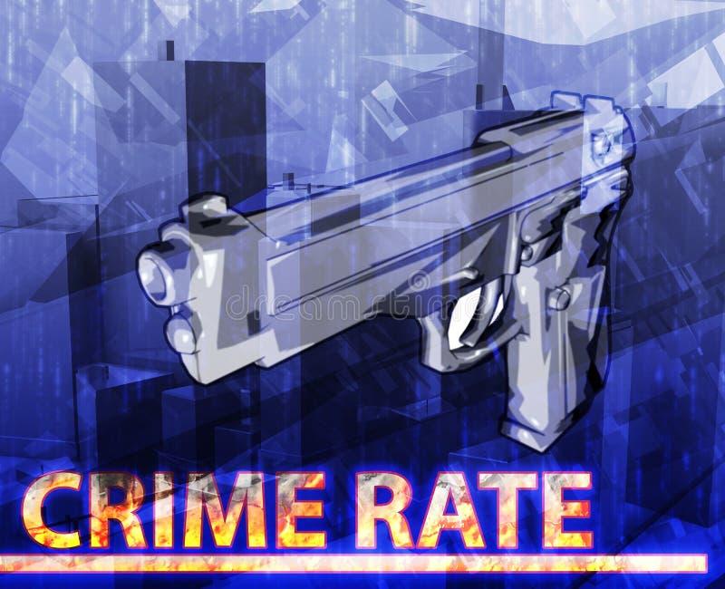 Illustration numérique de concept abstrait de taux de criminalité illustration libre de droits