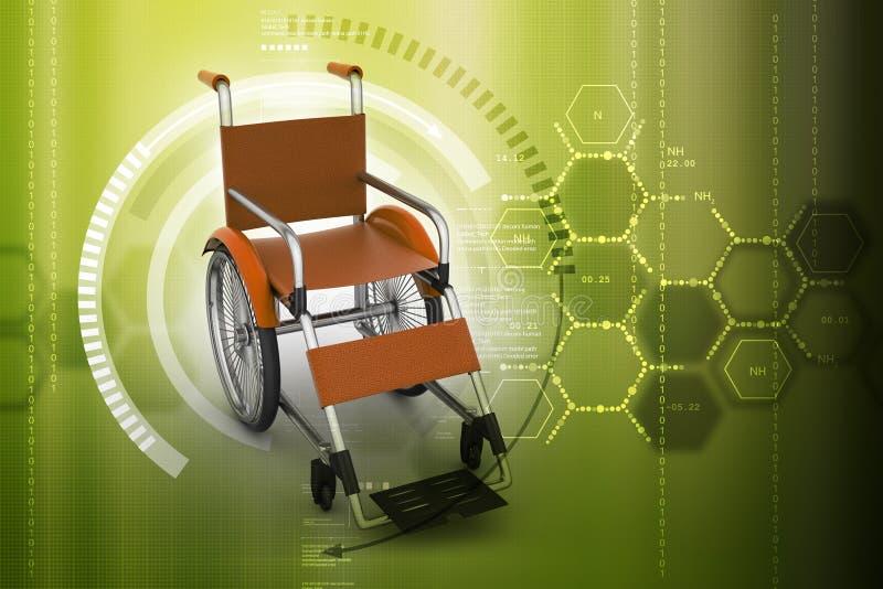 illustration numérique de fauteuil roulant médical illustration libre de droits