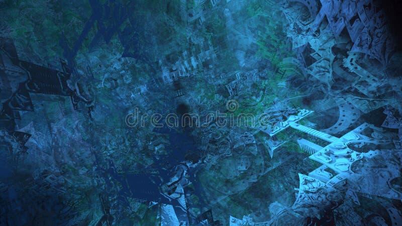 Illustration num?rique abstraite de surface du mat?riau de texture de peinture d'architecture de ruines illustration libre de droits