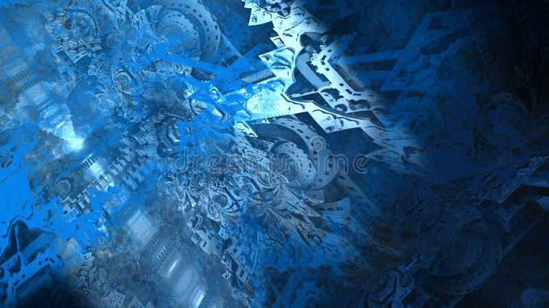 Illustration num?rique abstraite de surface du mat?riau de texture de peinture d'architecture de ruines illustration de vecteur