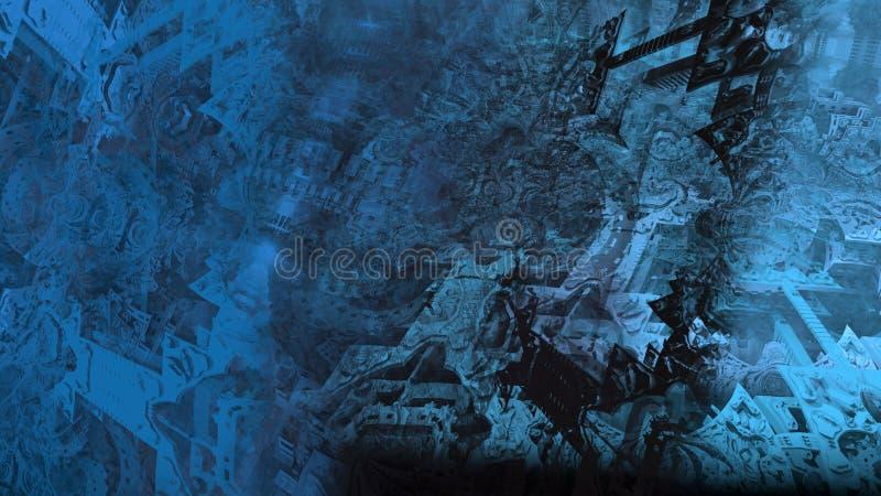 Illustration num?rique abstraite de surface du mat?riau de texture de peinture d'architecture de ruines illustration stock
