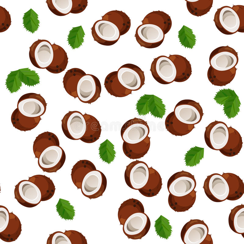Illustration of nuts. Very high quality original trendy vector seamless pattern with coconut vector illustration