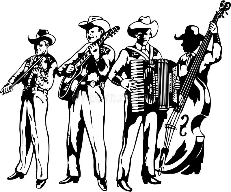 Illustration occidentale de bande illustration de vecteur