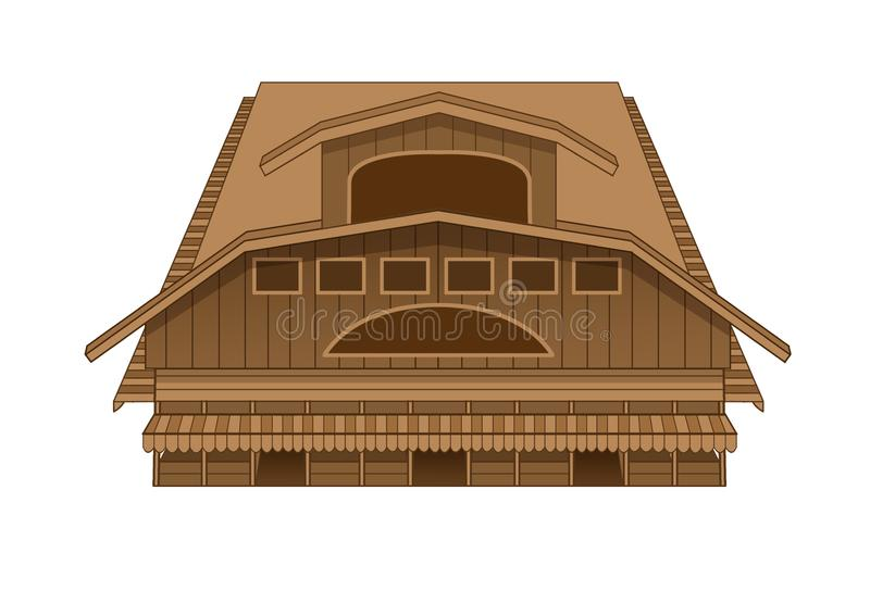 Illustration occidentale du marché de bâtiment de conception illustration libre de droits